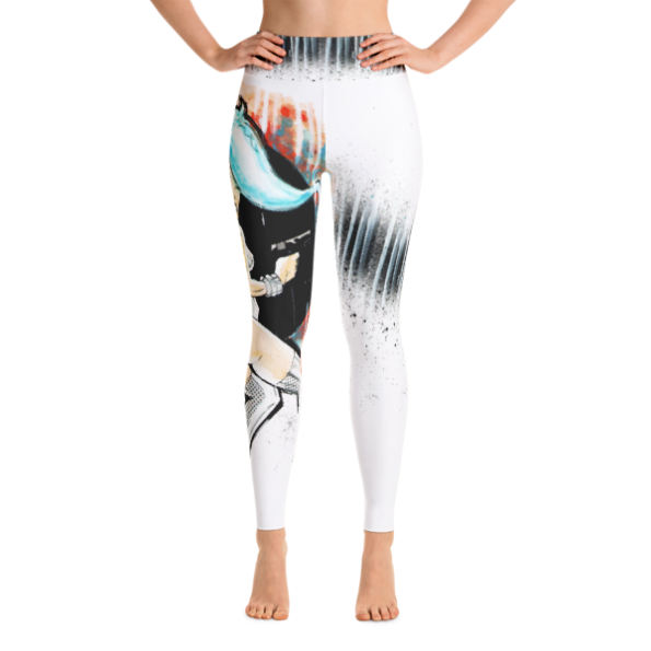 Deadly Blue Yoga Leggings