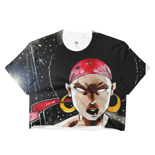 Black Girl From The Future Ladies Crop Top