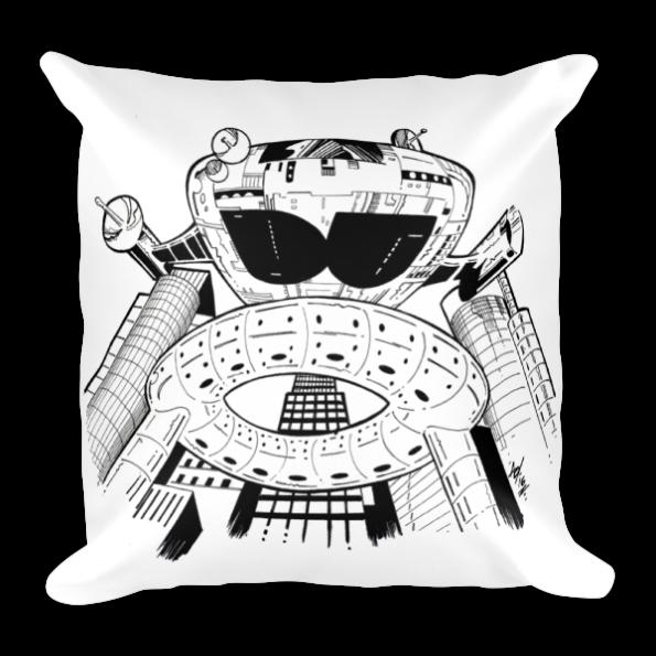 Detroit Starship Pillow