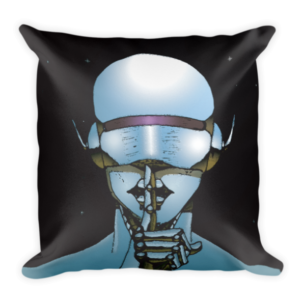 Muse of Silence Pillow (Black)