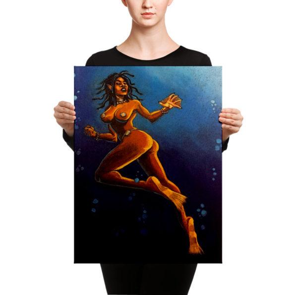 Drexyica : First sighting of a Drexciyan female Canvas