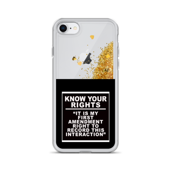 KNOW YOUR RIGHTS – Glitter iPhone Case