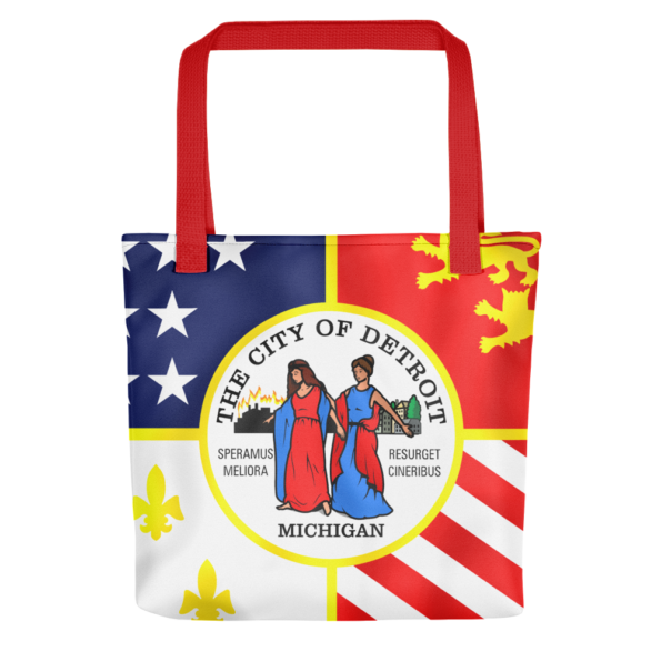 Detroit Flag Tote Bag